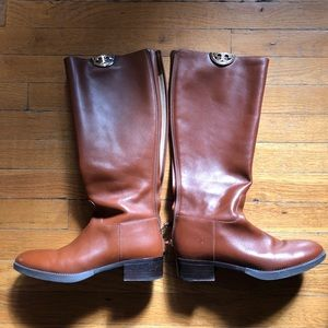Tory Burch Sidney Riding Boots - Brown - Size 8